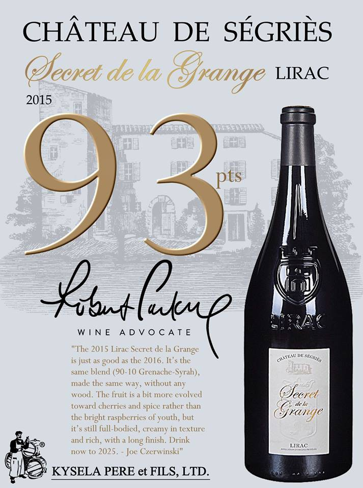 LIRAC ROUGE SECRET DE LA GRANGE 2015